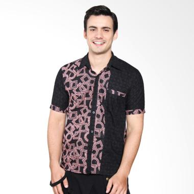 Jogja Batik Batik Kombinasi Short Sleeve Shirt - Gery Pink