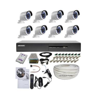 Hikvision 8 Camera Turbo HD Paket Outdoor Kamera CCTV [2.0 MP]