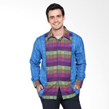 Batik Arjunaweda Men Rami Songket 65349126 Kemeja Batik - Biru