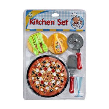 Momo Kitchen Set Mika Pizza Pizzaan Mainan Anak - Multicolour