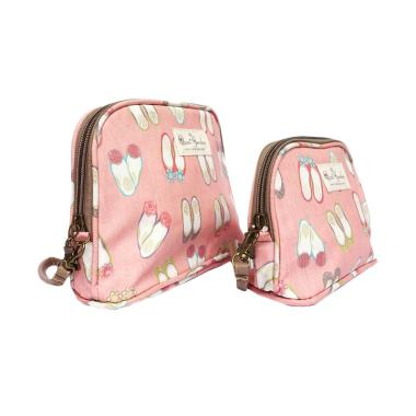 Qzcai Gardon MSL 058 Dompet Cosmetic - Pink Shoes