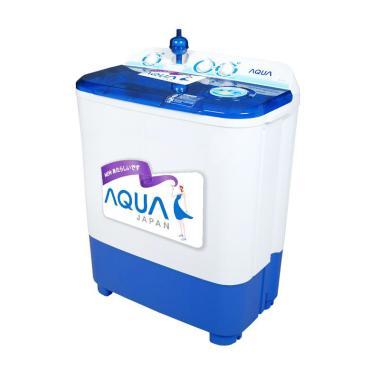 Aqua QW-755XT Mesin Cuci - Putih Biru [2 Tabung/7 Kg/Khusus Jabodetabek]