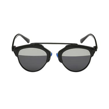 Deoclaus Fashion Eyewear Brent Sunglasses - Half Mirror Black