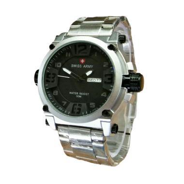 Jam Tangan Swiss Army SA.7169.SBW Pria - Silver Black