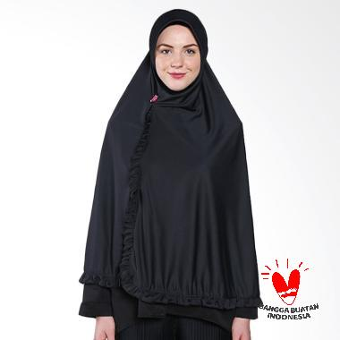 Rizky Collection Bergo Kancing Hijab Syar'i - Hitam