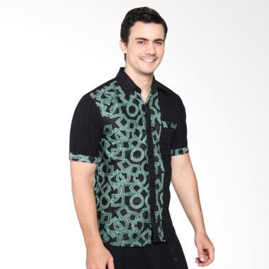 Jogja Batik Batik Kombinasi Short Sleeve Shirt - Gery Hijau