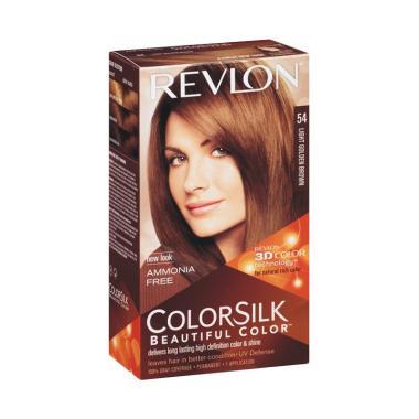 Revlon Colorsilk Beautiful 54 Cat Rambut - Light Golden Brown