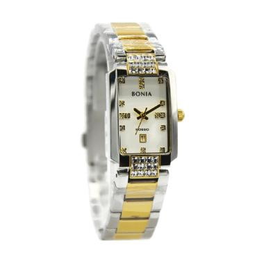 Bonia Rosso BNB10313-2117 Jam Tangan Wanita - Silver Kombinasi Gold
