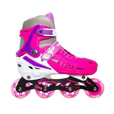 Power Line HB22 Recreational Inline Skate Sepatu Roda - Pink