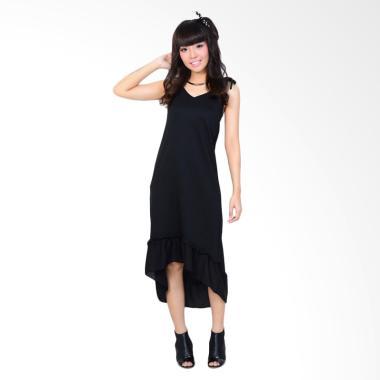 Jfashion Kaos Salur Dress - Hitam