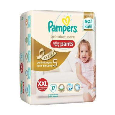 Pampers Premium Care Pants Popok Bayi Celana [Size XXL/17 Pcs]