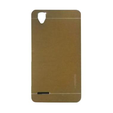 Motomo Metal Hardcase Backcase Casing for Oppo F1 Selfie or A35 - Gold