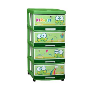jual napolly keropi plastik lemari 4 susun khusus jabodetabek online harga kualitas terjamin blibli com