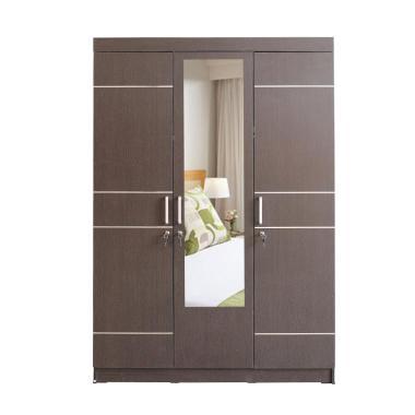 MD Furniture Lemari Pakaian [3 Pintu Ruteran dan Cermin]