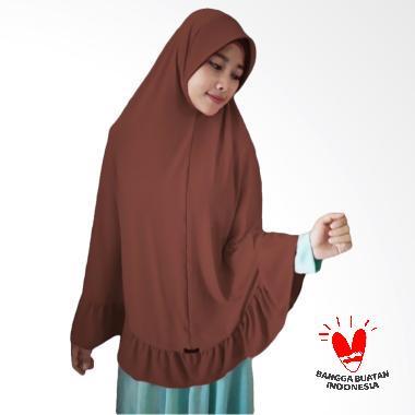 Milyarda Hijab Bergo Pet Ihrom Kerudung Instant - Brown