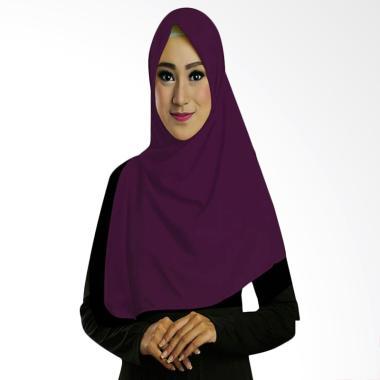 Ruman Hijab TS Square Jilbab Kerudung Sigiempat - Ungu Tua