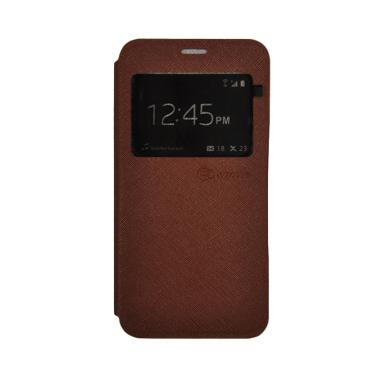 SMILE Standing Cover Casing for Samsung Galaxy J7 Prime - Brown