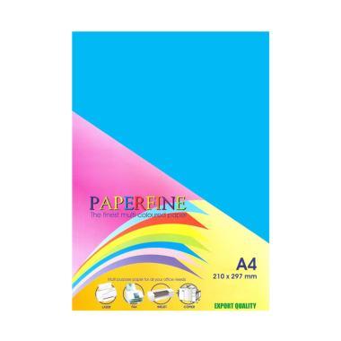 Paperfine Kertas HVS Warna - Biru Tua [A4 / 500 Lembar]