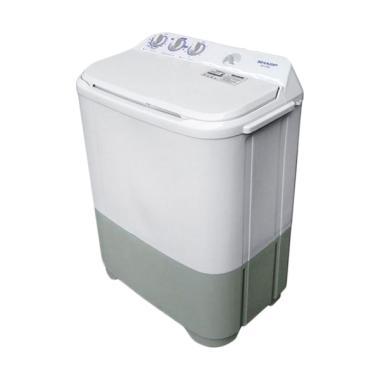 Sharp EST65MW-BK Mesin Cuci - Putih [2 Tabung/ 6.5 Kg/ Khusus Jabodetabek]