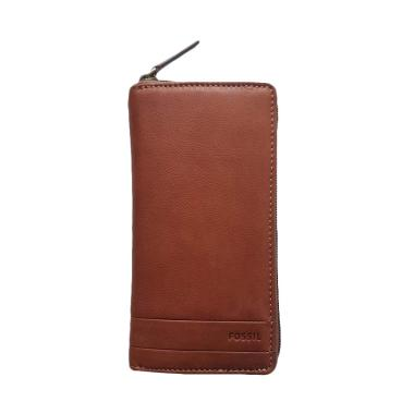 Fossil Lufkin Long Wallet SML 1447210 Dompet Wanita - Medium Brown