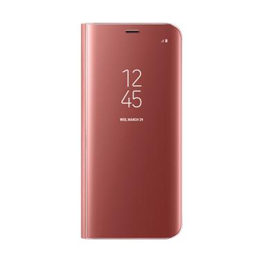 Samsung Clear View Standing Cover Casing for Galaxy S8 - Pink