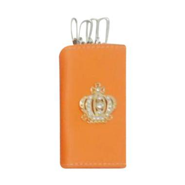 harga CentralSeat Mahkota Dompet Gantungan Kunci Mobil - Orange Blibli.com