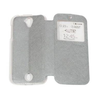 Ume Flipshell / Flip Cover Casing f ... Handphone / View - Silver