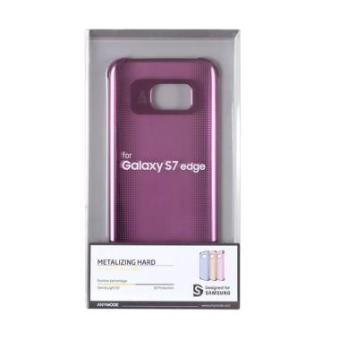 Anymode Metalizing Hardcase Casing for Samsung Galaxy S7 Edge - Pink