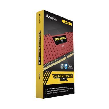 harga Corsair Vengeance LPX CMK8GX4M1A2400C14R DDR4 DRAM C14 Memori Kit - Red [8GB/1x8GB/2400MHz] Blibli.com