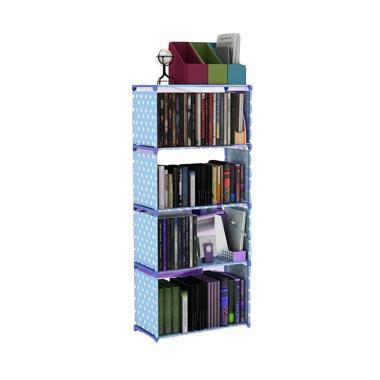 Godric Rak Buku Portable SINGLE / L ...  x 144 CM - Biru Polkadot