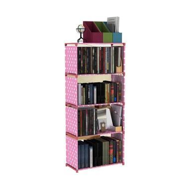 Godric Rak Buku Portable SINGLE / L ...  x 144 CM - Pink Polkadot