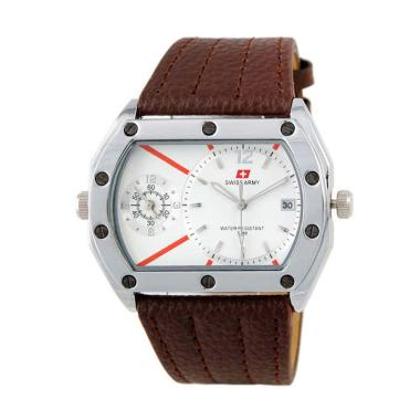 Swiss Army SA 6571 AD Dual Time Jam Tangan Pria - Brown