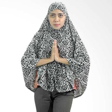 Afizah Panjang Motif Bunga Jilbab Langsung Wanita - White