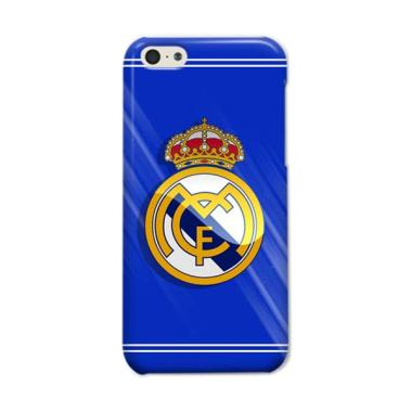 Indocustomcase Real Madrid Logo S Casing For Apple iPhone 5C - Blue