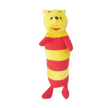 Spicegift Guling Garis Teddy Bear Boneka - Merah Kuning