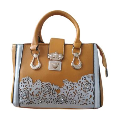 Guess Collection Unik Branded Import Hand Bag - Brown
