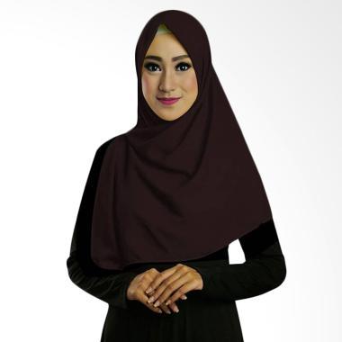 Ruman Hijab Square Jilbab Kerudung Segi Empat TS - Coklat Tua