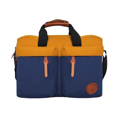 Bag & Stuff Embargo Combi Messenger Sling Bag - Orange Biru Dongker