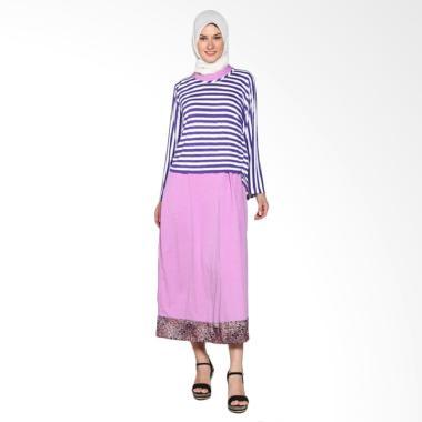 fafa-collection_marsha-008--long-dress-batik-wanita--warna-purple-stripes_full05 Koleksi List Harga Model Busana Muslim Batik Wanita Terbaru Terbaik 2018