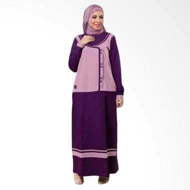 Believe AG-02 Baju Muslim Modern Hijab Wanita Gamis Dress Kaos - Ungu