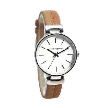 Hush Puppies 3844L-2517 Jam Tangan Wanita - Brown Silver