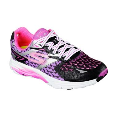 Skechers 13997BKPR Go Run Ride 5 Women Shoes Sepatu Lari Wanita