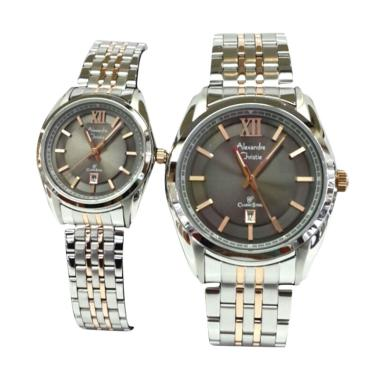 Alexandre Christie AC 8501 Jam Tangan Couple - Silver Gold