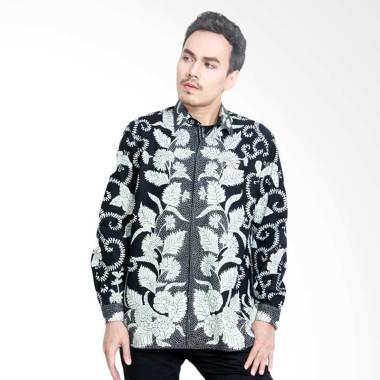 Aamir Kinsler BTU14 Kemeja Batik Tulis Lengan Panjang - Hitam