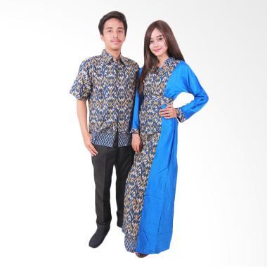 Batik Putri Ayu Solo Sarimbit SRG108 Batik Couple - Biru