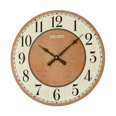 Seiko QXA644B Quiet Sweep Oak Wood  ... m Dinding - Brown [49 cm]
