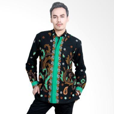 Aamir Kinsler BTU18 Kemeja Batik Tulis Lengan Panjang Hitam