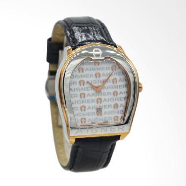 Aigner Verona Leather Jam Tangan Un ...  Silver Rose Gold A48034]