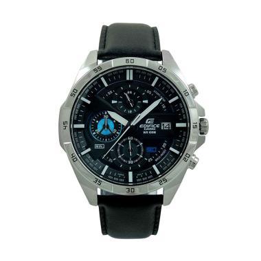 harga Casio Edifice Leather Strap Jam Tangan Pria EFR-556L-1AVUDF - Silver Blue Blibli.com