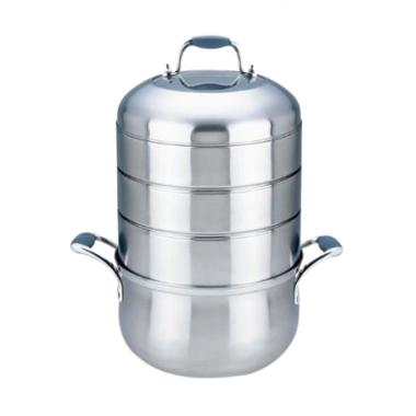 Homezace Cooks Cyclone Stack Cooker ... us 4 Susun - Silver [9 L]